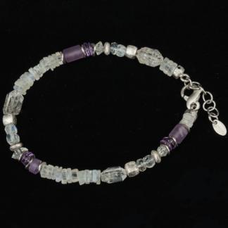 Armband weiss violett