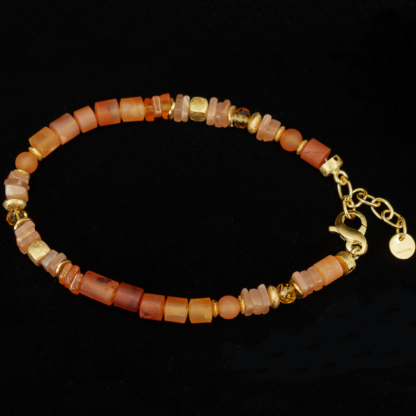 Set orange: Collier, Armband, Ohrhänger